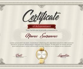 Certificate templete brown vector 01