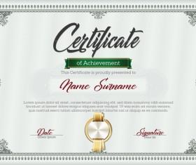 Certificate templete green vector 01