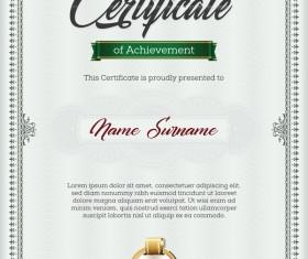 Certificate templete green vector 02