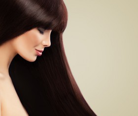 Charming black hair woman fashion model Stock Photo 06