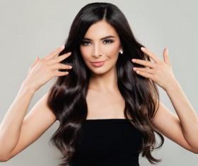 Charming black hair woman fashion model Stock Photo 07