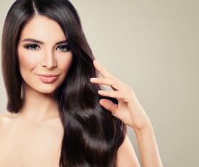 Charming black hair woman fashion model Stock Photo 09