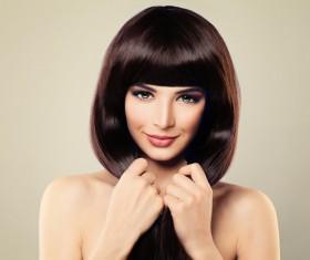 Charming black hair woman fashion model Stock Photo 12