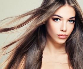 Charming black hair woman fashion model Stock Photo 13
