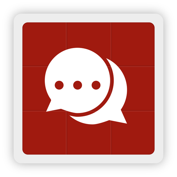 Chat information icon vector