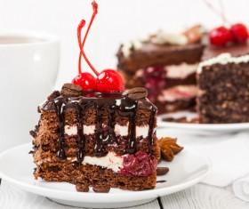 Cherry Chocolate Cake Stock Photo