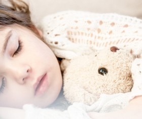 Children serene sleep Stock Photo