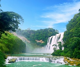 China Huangguoshu Waterfall Stock Photo