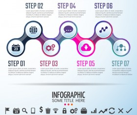 Circles infographic colored vector template 02