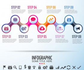 Circles infographic colored vector template 03