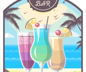 Cocktail summer bar poster template vector 11