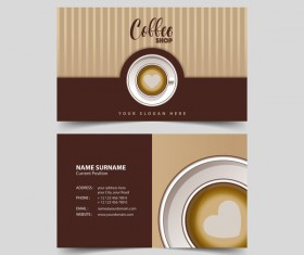 Coffee shop business card vector 01