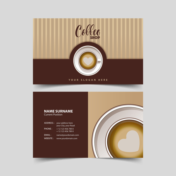 Coffee shop business card vector 01 vector business for Business card shop