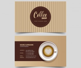 Coffee shop business card vector 02