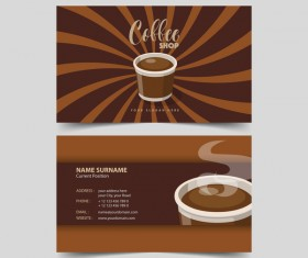 Coffee shop business card vector 05