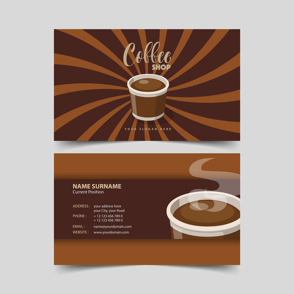 Coffee shop business card vector 05 vector business free download coffee shop business card vector 05 reheart Images