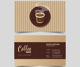 Coffee shop business card vector 07