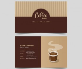 Coffee shop business card vector 08