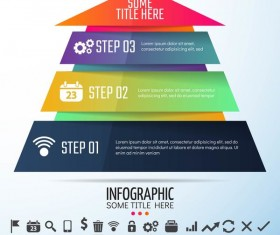 Colored banners with infographic template vector 05