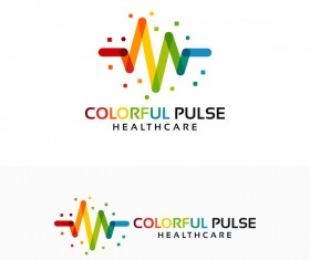 Colorful healthcare logo vector