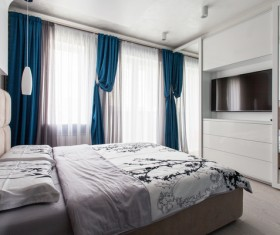 Comfortable bedroom Stock Photo 01