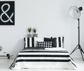Comfortable bedroom Stock Photo 04