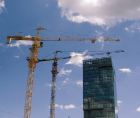 Construction site crane Stock Photo 01