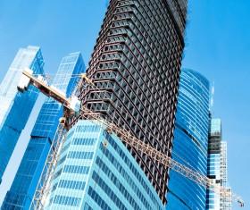 Construction site crane Stock Photo 03