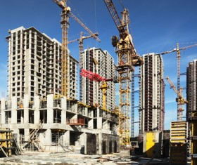 Construction site crane Stock Photo 05