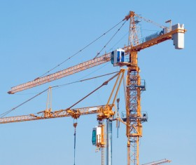 Construction site crane Stock Photo 06