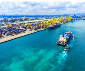 Container ship import and export business Stock Photo 01