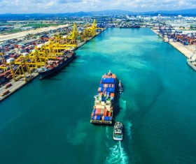 Container ship import and export business Stock Photo 02