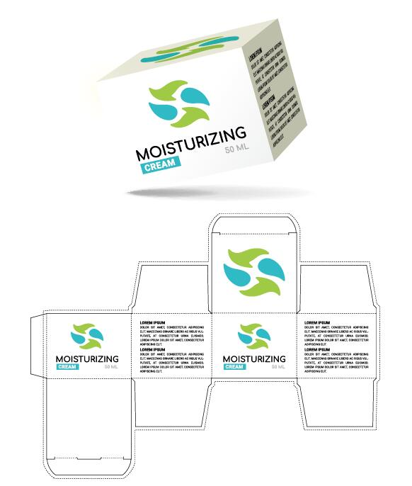 Cosmetic Packaging Box Template Vector 11