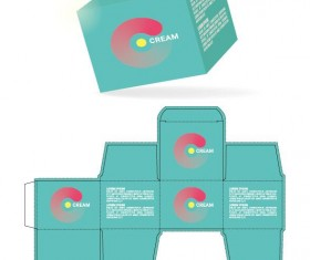 Cosmetic packaging box template vector 12