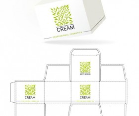 Cosmetic packaging box template vector 14