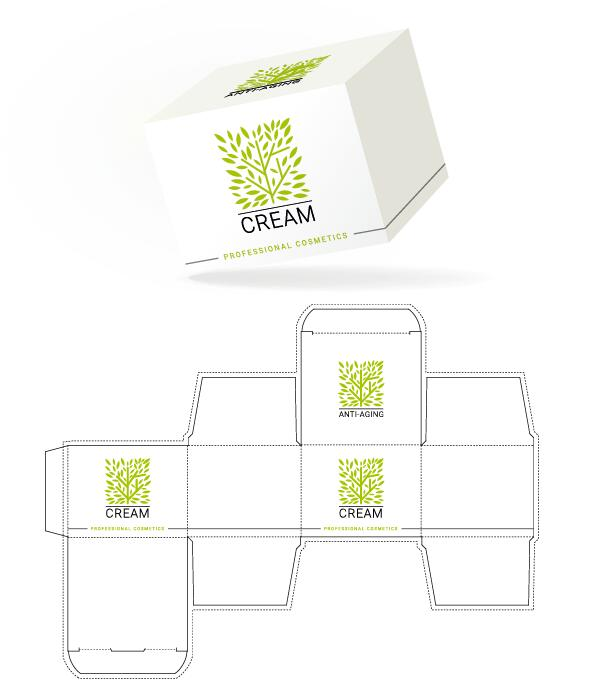 Cosmetic packaging box template vector 14 free download