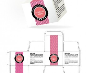 Cosmetic packaging box template vector 15