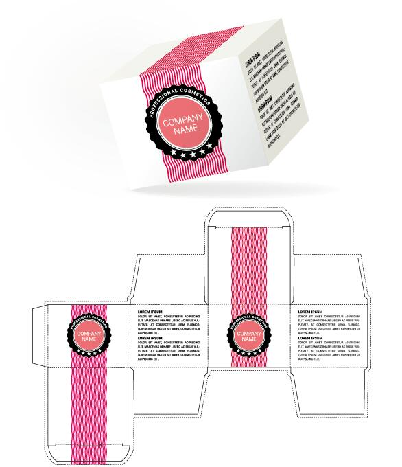 Cosmetic packaging box template vector 15 free download