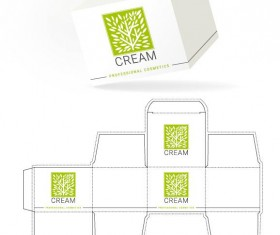 Cosmetic packaging box template vector 16