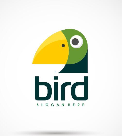 Creative bird logo vector