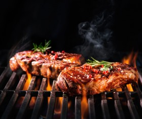 Delicious charcoal grilled lamb Stock Photo 04