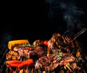 Delicious charcoal grilled lamb Stock Photo 05