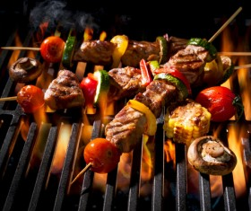 Delicious charcoal grilled lamb Stock Photo 06