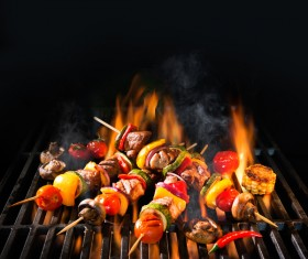 Delicious charcoal grilled lamb Stock Photo 07