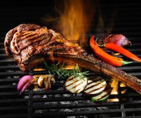 Delicious charcoal grilled lamb Stock Photo 08