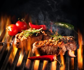 Delicious charcoal grilled lamb Stock Photo 09