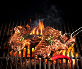 Delicious charcoal grilled lamb Stock Photo 10