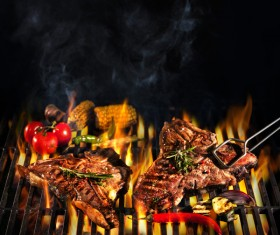 Delicious charcoal grilled lamb Stock Photo 11