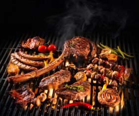 Delicious charcoal grilled lamb Stock Photo 12