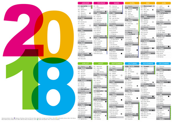 Detailed Calendar Template Art Student